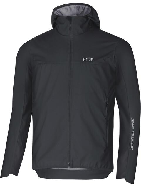 GORE WEAR M's H5 Gore Windstopper Insulated Hooded Jacket Black/Terra Grey